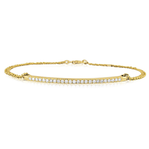 A delicate&exclusive diamond bracelet-25 Diamonds