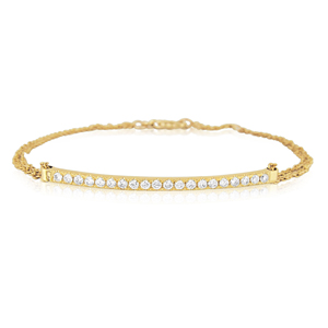 A delicate&classy diamond bracelet-20 Diamonds