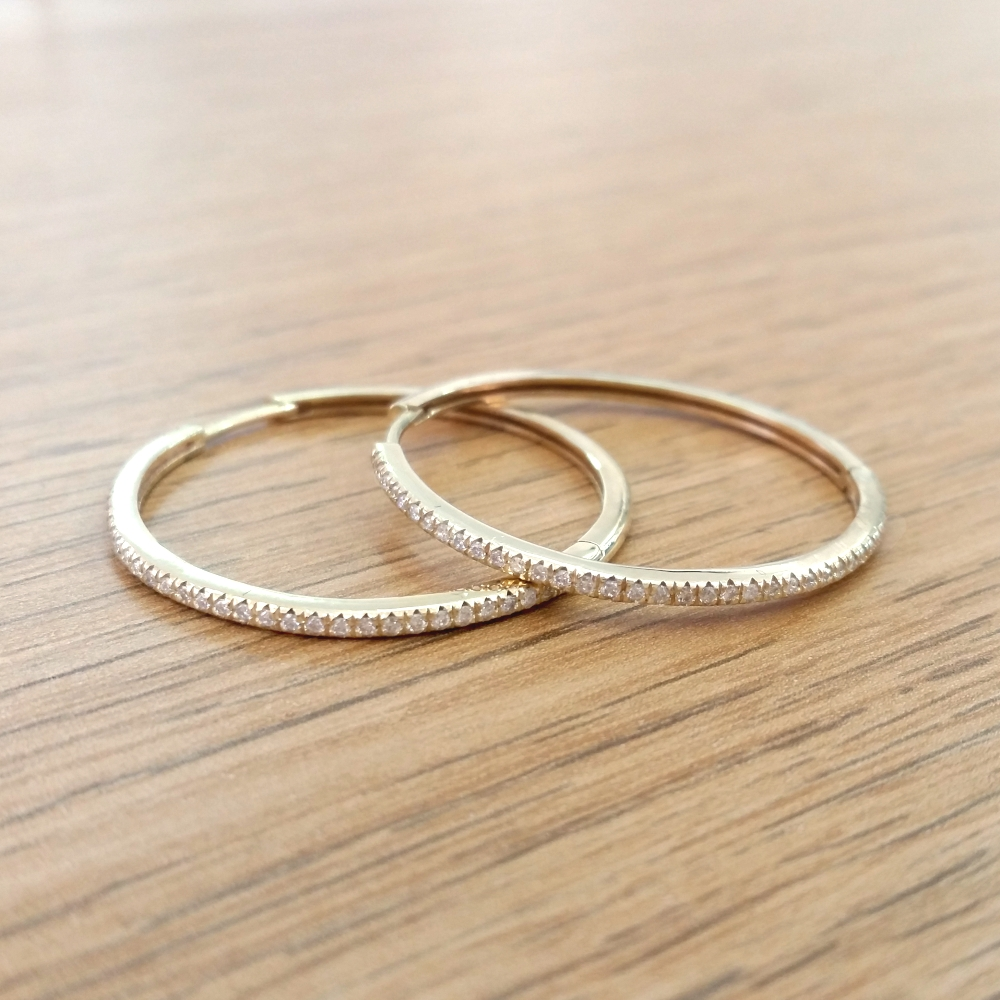 30mm Hoop Diamond Earrings
