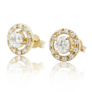 14K Gold 0.75ctw Diamond Stud Earrings