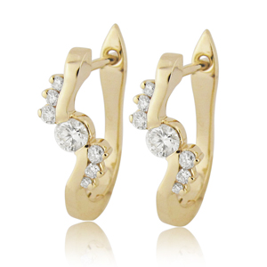 Special Hoop Diamond Earrings-0.50ct
