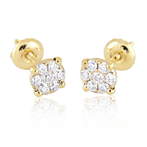 14K Gold 0.28ctw Diamond Stud Earrings