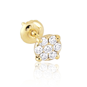 0.10ct Men Diamond Stud Earring
