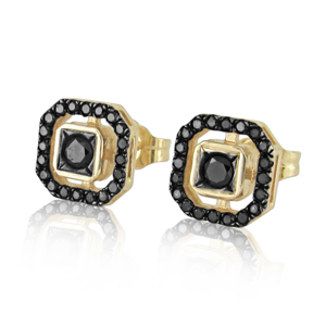 Black Diamond Earrings -Special Design