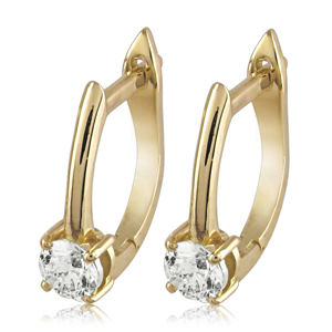 Hanging Diamond Earrings Studded With 0.50 ct