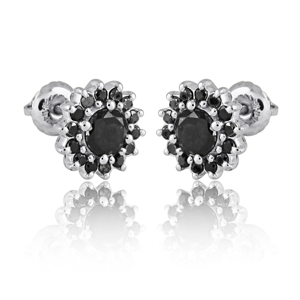 Antique Black Diamond Earrings