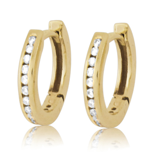 Small Hoop Diamond Earrings