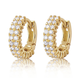 Hoop Earrings with 52 Diamonds!