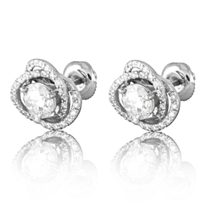 Modular Diamond Stud Earrings