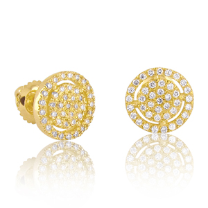 "0.40ctw Diamond ""Halo"" Earrings"