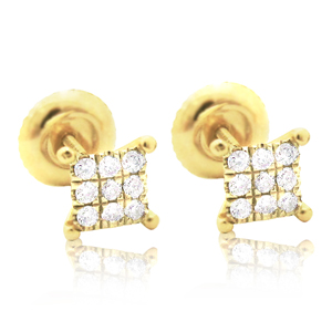 0.36ctw (Princess Cut) Diamond Stud Earrings