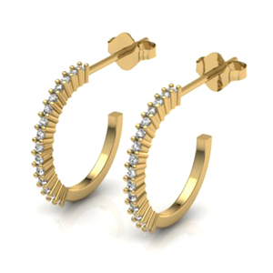 0.25 Carat Diamond Half-Hoop Earrings - Special Edition!