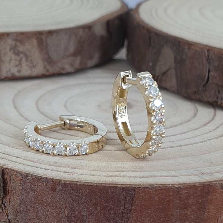 0.36 Carat Diamond Hoop Earrings - Special Edition!