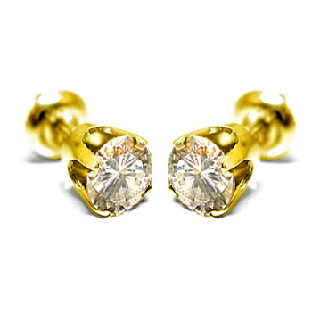 14K Gold 0.10ctw Diamond Stud Earrings