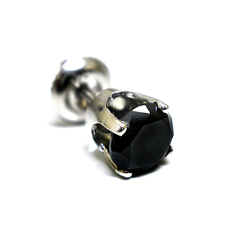 0.10ct Men Black Diamond Stud Earring