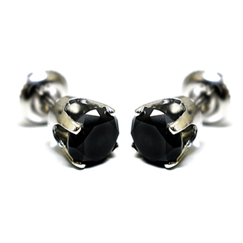 14K Gold 0.40ctw Black Diamond Stud Earrings