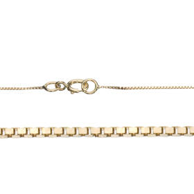 "16"" Length 14K 0.6mm Venetian Gold Chain"