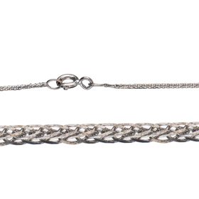 "16"" Length 14K 0.8mm Spiga Gold Chain"