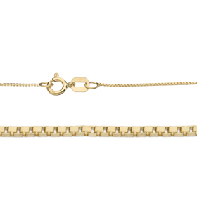 "18"" Length 14K 0.5mm Venetian Gold Chain"