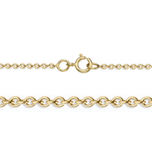 "18"" Length 14K Yellow Gold 0.9mm Width Rolo Gold Chain"