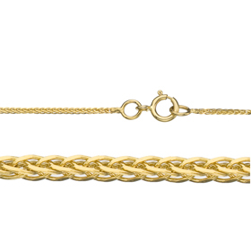 "22"" Length 14K 0.8mm Spiga Gold Chain"