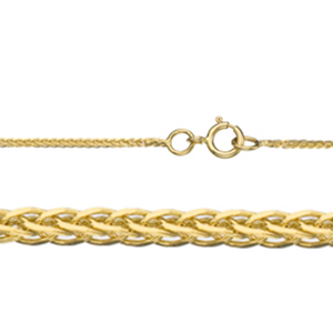 "24"" Length 14K 0.8mm Spiga Gold Chain"