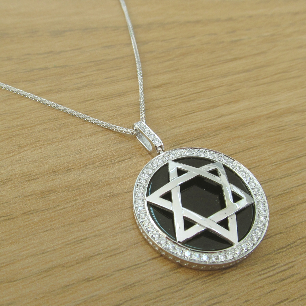 Special Unique Diamond Star of David Pendant