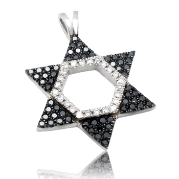 14K Gold 0.42ctw Star of David Diamond Pendant