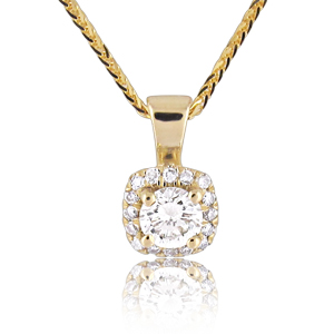 14K Gold 0.28tcw Diamond Pendant
