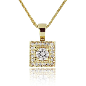 14K Gold 0.30tcw Diamond Pendant