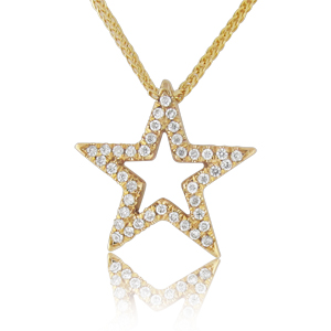 0.20ct Star Shaped Diamond Pendant
