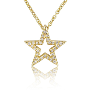 0.15ct Star Shaped Diamond Pendant