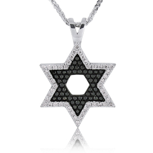 14K Gold 0.51ctw Star of David Diamond Pendant