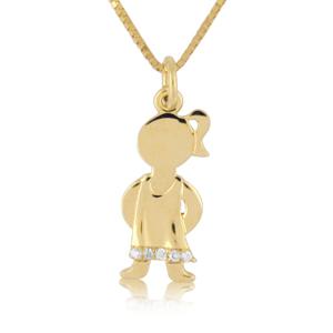 Diamond baby boy girl pendants necklaces 14k gold 002ctw diamond baby girl pendant aloadofball Choice Image