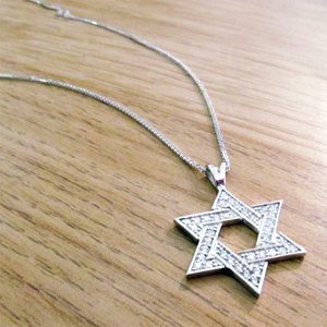 Realistic picture of 14K Gold 0.36ctw Star of David Pendant