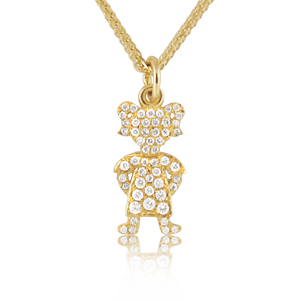 Baby Girl Full Diamonds Pendant