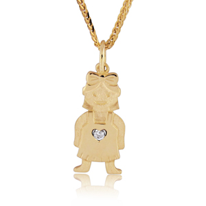Baby Girl Diamond Pendant 0.02ct