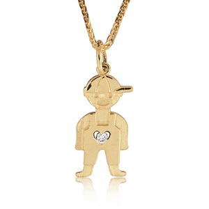 Baby Boy Diamond Pendant 0.02ct