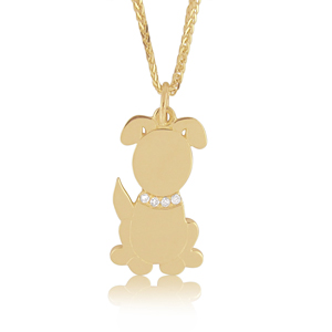 Dog Diamond Pendant