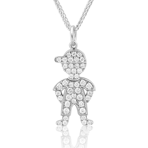 Baby Boy Full Diamonds Pendant