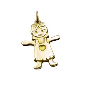 14K Gold Baby Girl Pendant