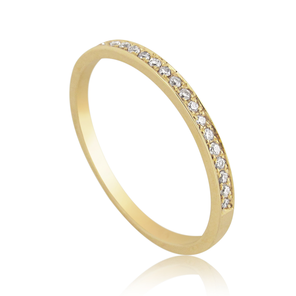 14K Gold 0.10ctw Half Eternity Ring