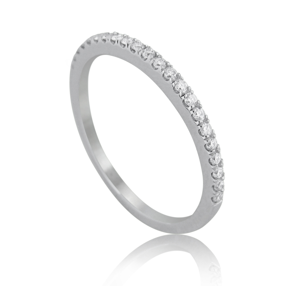 14K Gold 0.16ctw Half Eternity Ring