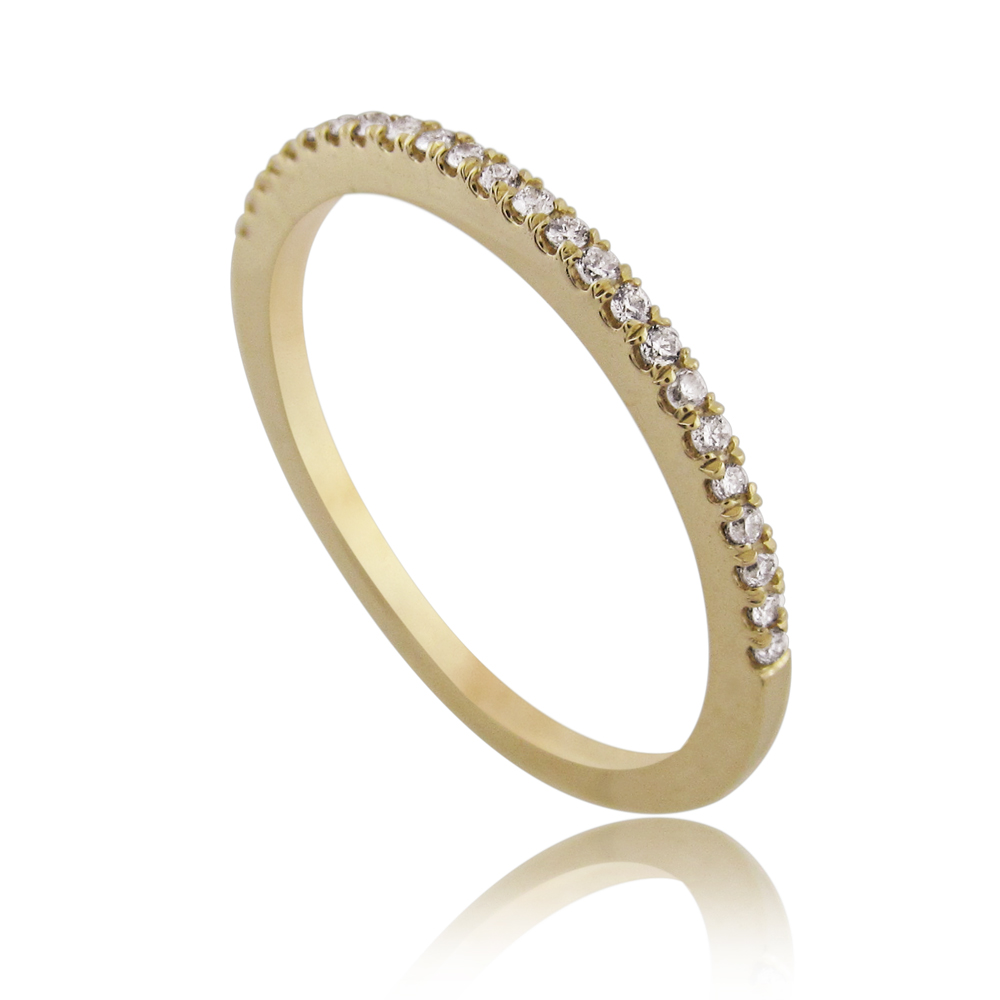14K Gold 0.12ctw Half Eternity Ring