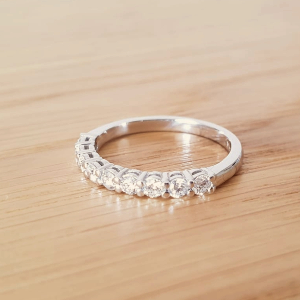 Diamond 0.45ctw Half-Eternity Stackable Wedding Band in 14k Gold