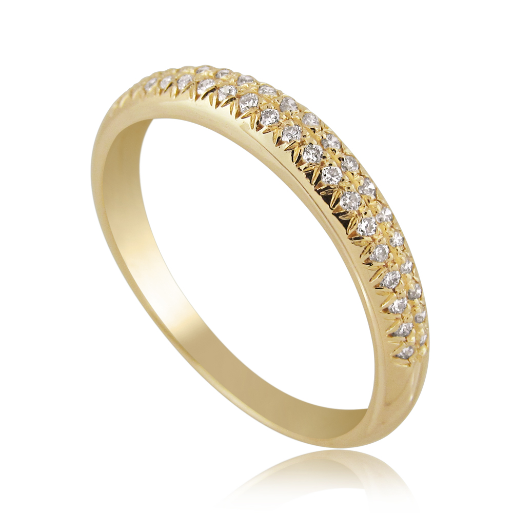 14K Gold 0.20ctw Half Eternity Ring