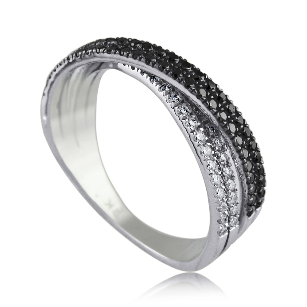 A Diamond Ring -combined with black and white diamonds