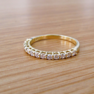14K Gold 0.40ctw Classic Diamond Half Eternity Ring