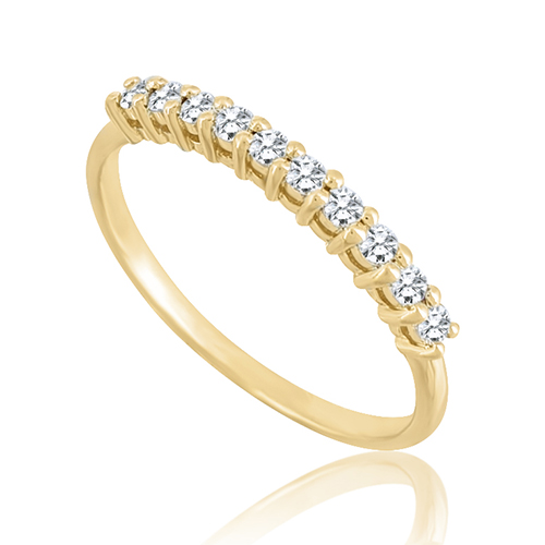 Antique style half eternity diamond ring