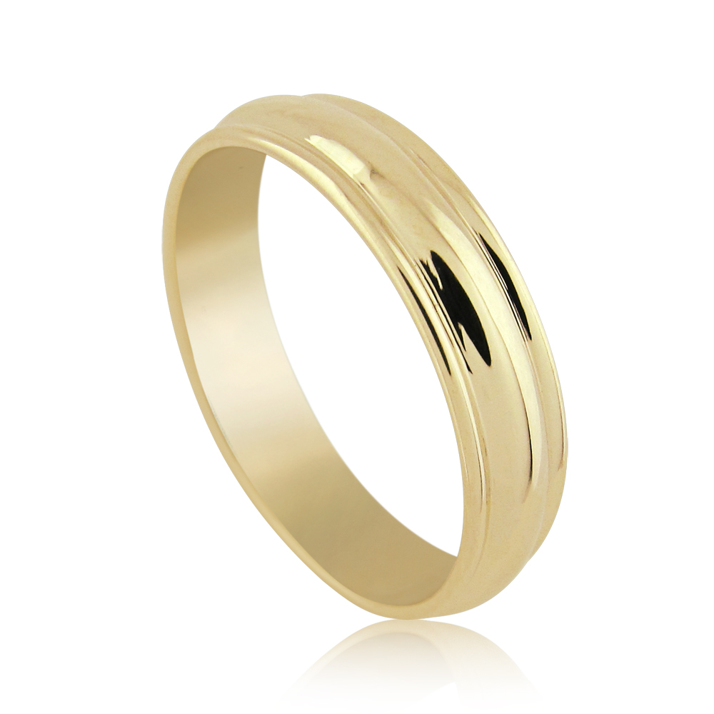 14k Yellow Gold 6mm Milgrain Double Edge Wedding Band